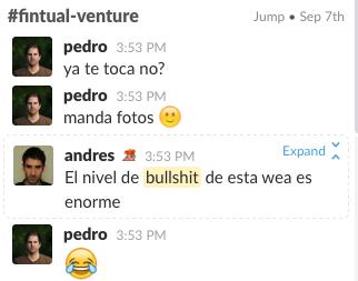 Nuestra conversación por Slack
