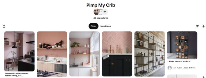 Tablero de Pinterest con ideas de remodelación