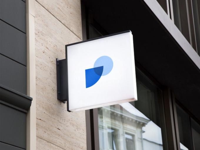 El logo de Fintual en la calle